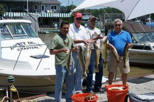 group fishing trip in lake erie