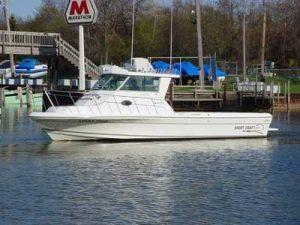 fishing charter boat in lake erie